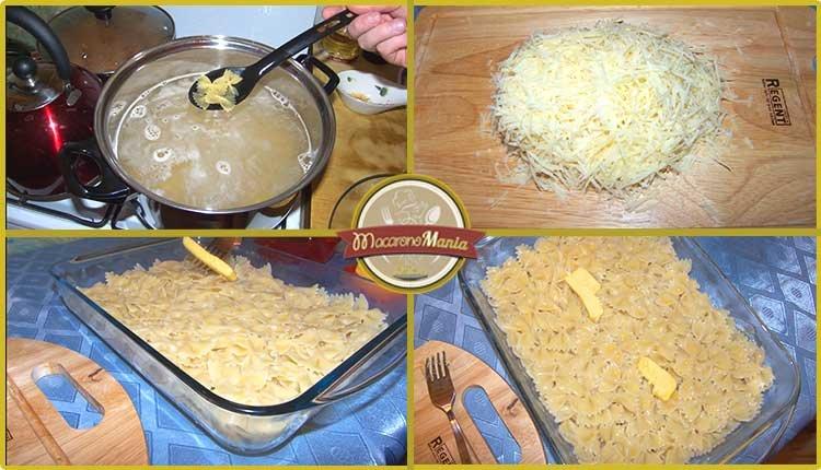 Макароны с говядиной запеченные в сливочном соусе. Приготовление. Шаг 4