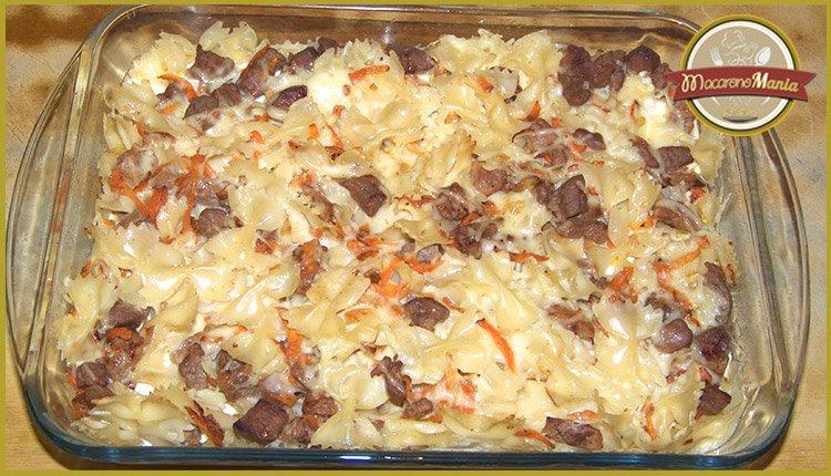 Макароны с говядиной запеченные в сливочном соусе. Приготовление. Шаг 6