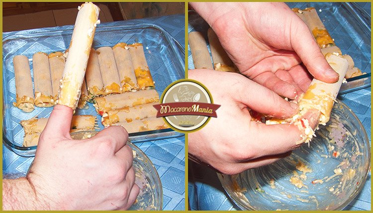 Каннеллони под соусом бешамель со сладким перцем. Приготовление. Шаг 5
