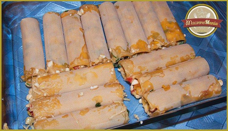 Каннеллони под соусом бешамель со сладким перцем. Приготовление. Шаг 6