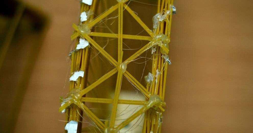 Мосты из макарон. Соревнования по строительству. 2