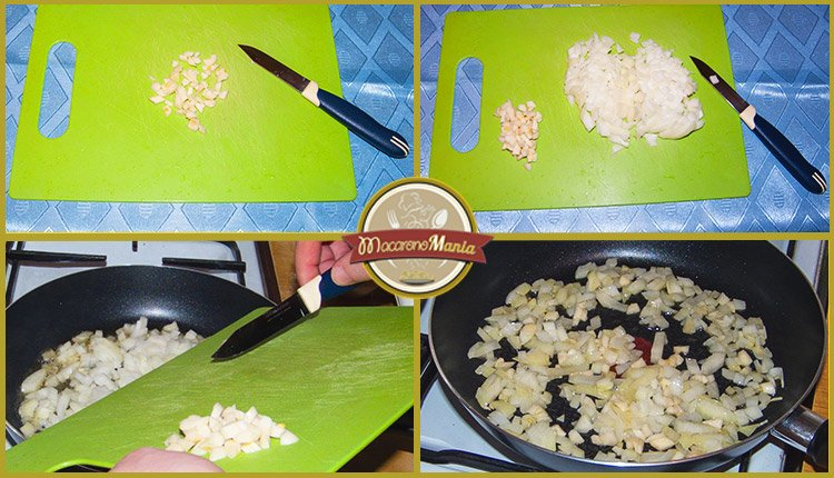 тортильони с неаполитанским соусом и пармезаном. Приготовление. Шаг 1
