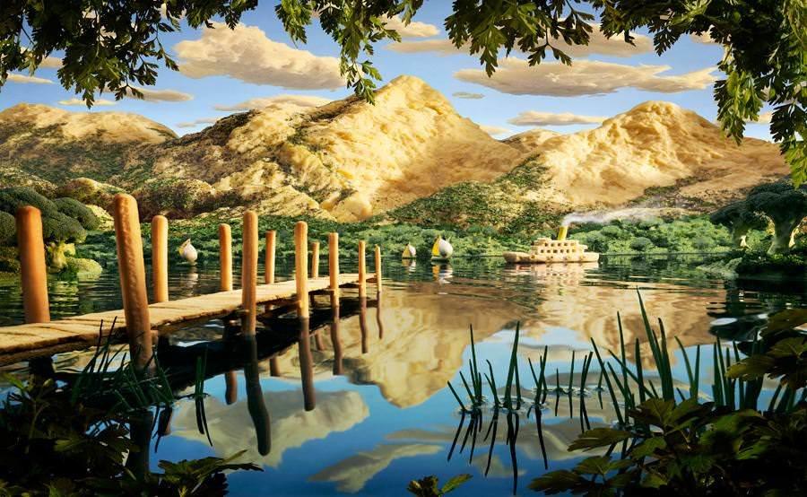 Картины из продуктов и съедобные ландшафты Карла Уорнера 12