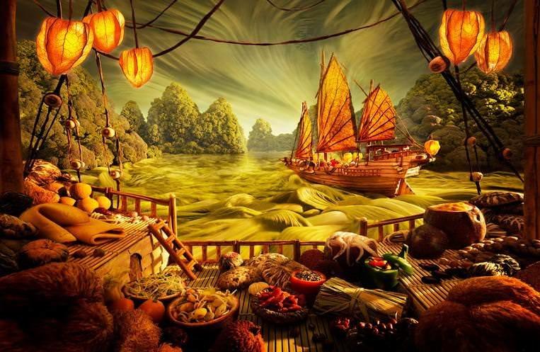 Картины из продуктов и съедобные ландшафты Карла Уорнера 10
