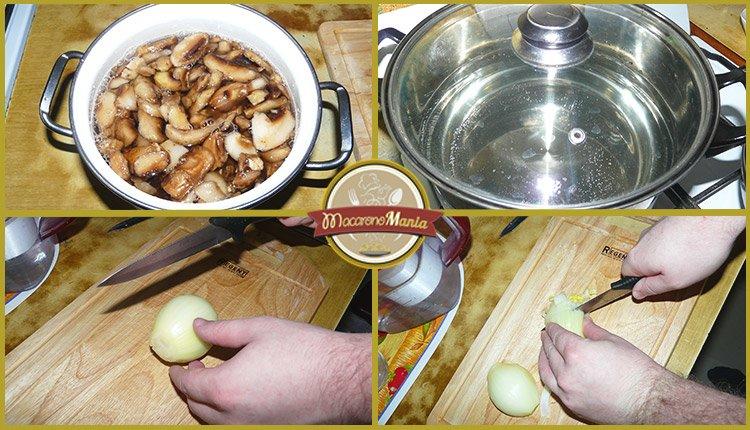 Макароны с курицей и грибами, вином и травами. Приготовление. Шаг 1