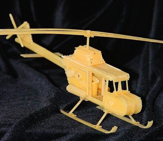 Техника, модели и поделки из макарон 3