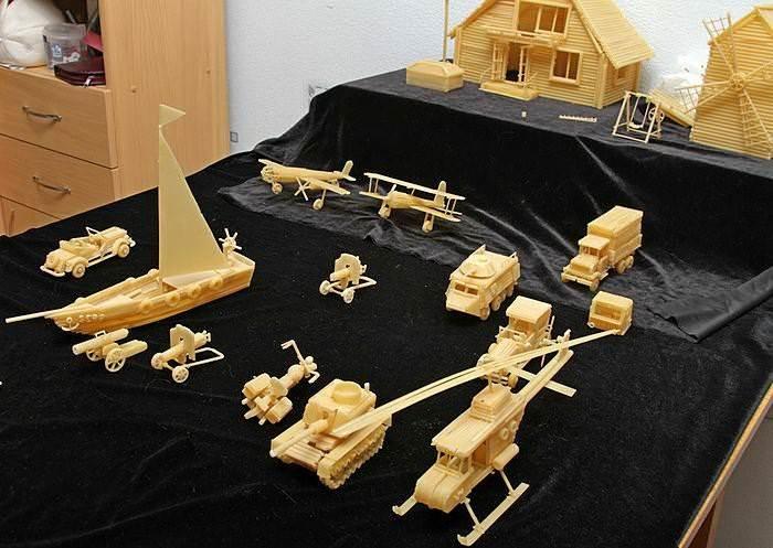 Техника, модели и поделки из макарон 2