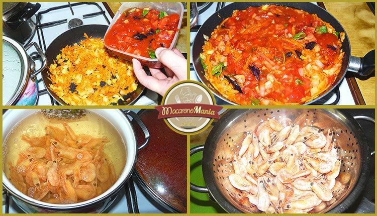 Спагетти с креветками под соусом маринара. Приготовление. Шаг 3