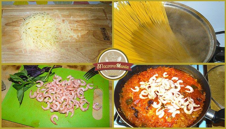 Спагетти с креветками под соусом маринара. Приготовление. Шаг 4