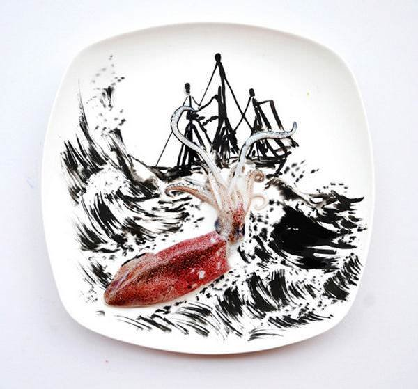 Нападение кальмара