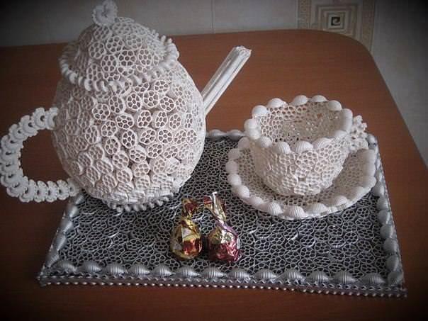 Поделки и сувениры из макарон. 1 часть. 2