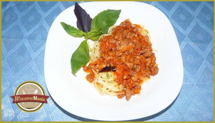 Спагетти болоньезе. Готовое блюдо