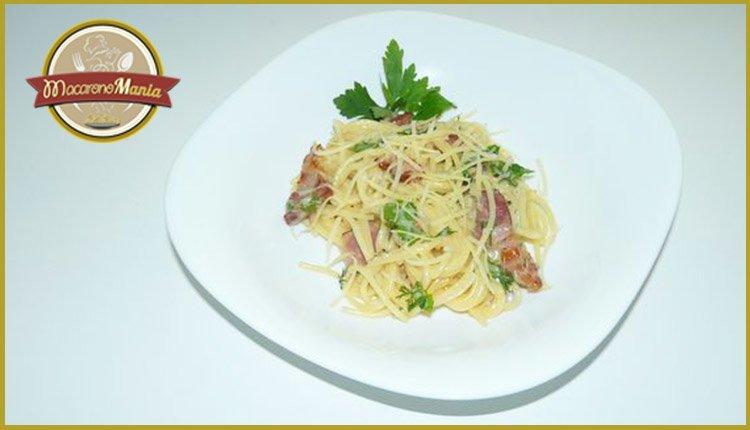 Спагетти карбонара. Готовое блюдо
