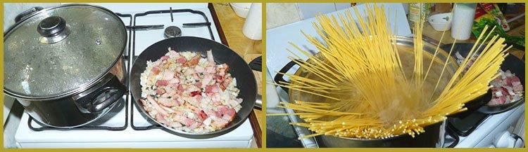 Спагетти карбонара. Пошаговое приготовление. Шаг 2