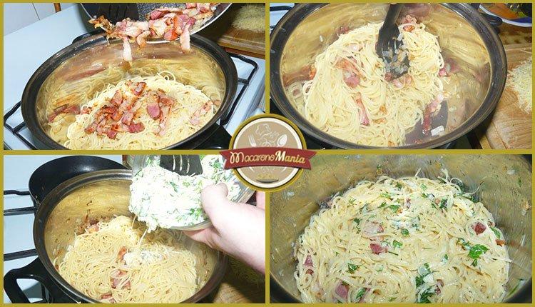 Спагетти карбонара. Пошаговое приготовление. Шаг 5
