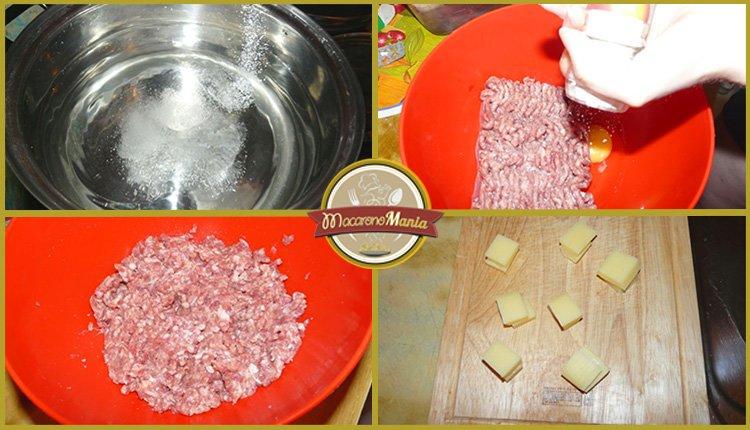 Макароны с котлетами (тефтелями) под соусом бешамель. Приготовление. Шаг 1