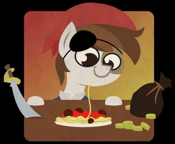 Спагетти, фрикадельки и пастафарианские пони-пираты  8