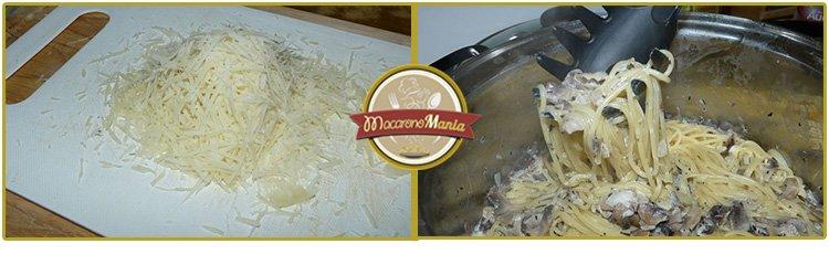 Спагетти с шампиньонами в сливочном соусе. Приготовление. Шаг 5