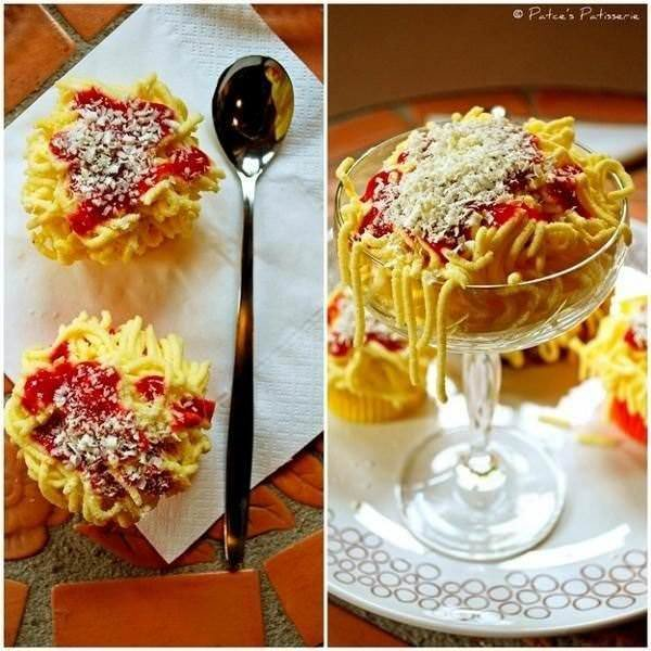 Spaghetti Ice Cream. Айс спагетти - мороженное спагетти 4