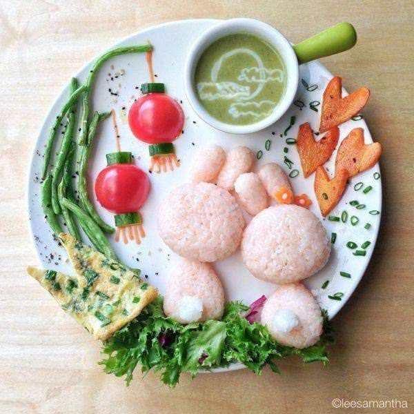 Фуд арт. Картины на тарелках для детей от Саманты Ли 13