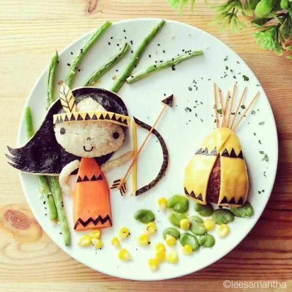 Фуд арт. Картины на тарелках для детей от Саманты Ли 14