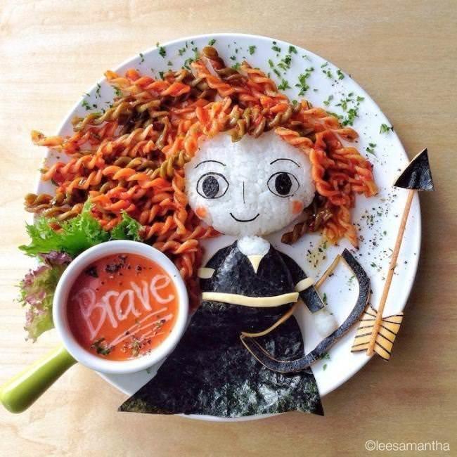 Фуд арт. Картины на тарелках для детей от Саманты Ли