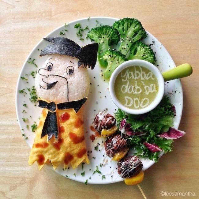 Фуд арт. Картины на тарелках для детей от Саманты Ли 6