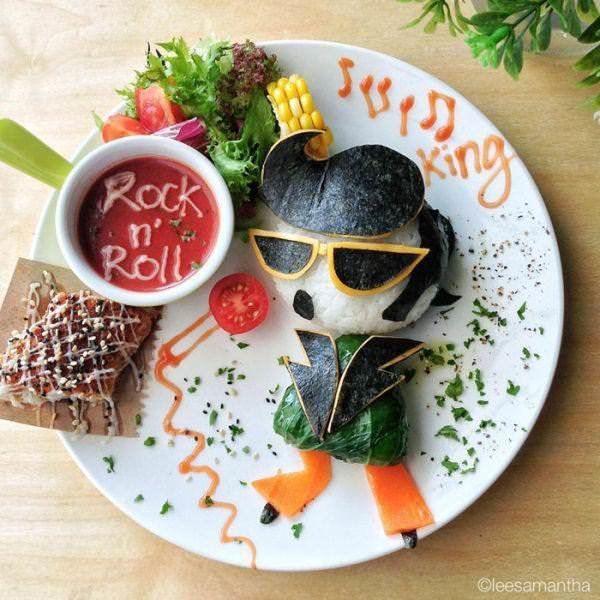 Фуд арт. Картины на тарелках для детей от Саманты Ли 9