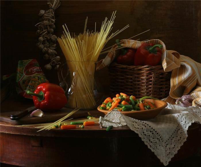 Натюрморты с макаронными изделиями. Картинки с макаронами 7