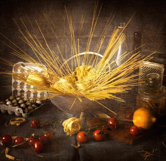 Натюрморты с макаронными изделиями. Картинки с макаронами 5