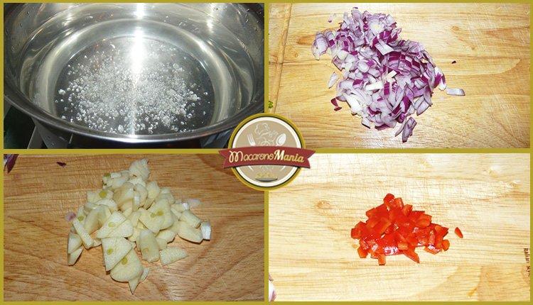 Паста с тунцом, помидорами и шпинатом. Приготовление. Шаг 1