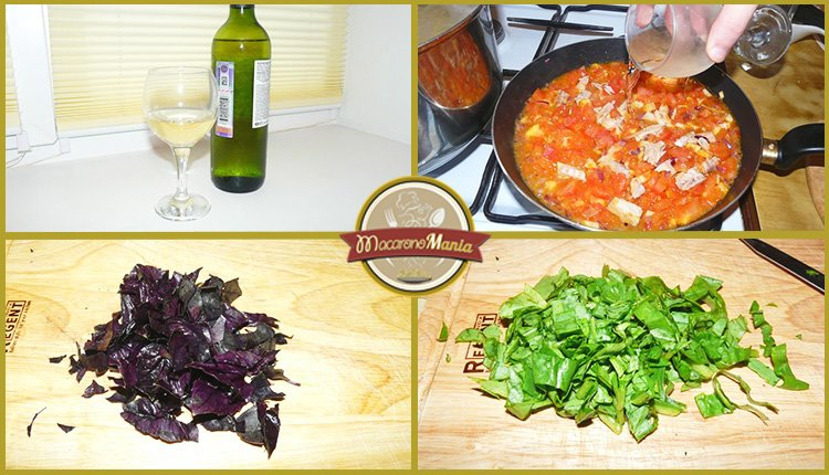 Паста с тунцом, помидорами и шпинатом. Приготовление. Шаг 5
