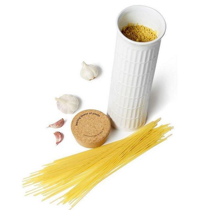 Контейнер для хранения спагетти в виде Пизанской башни 4