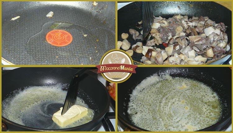 Каннеллони с мясом, грибами и соусом бешамель. Приготовление. Шаг 4