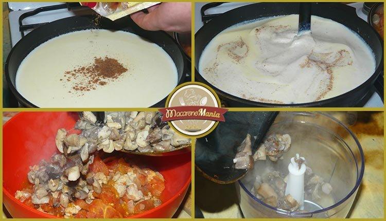 Каннеллони с мясом, грибами и соусом бешамель. Приготовление. Шаг 6