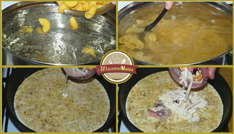 Паста с морепродуктами в сливочном соусе. Приготовление. Шаг 3