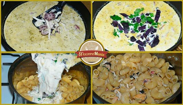 паста с морепродуктами в сливочном соусе рецепт с фото пошагово. Шаг 4