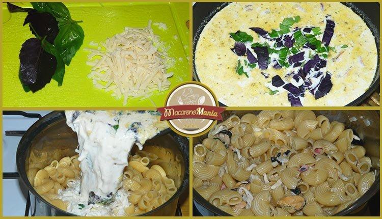 Паста с морепродуктами в сливочном соусе. Приготовление. Шаг 4