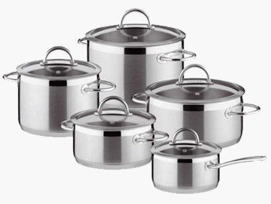 Выбор посуды для приготовления еды. Посуда из нержавеющей стали