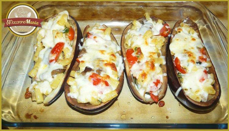 Баклажаны с пастой запеченные в духовке. Пошаговый рецепт. Шаг 9