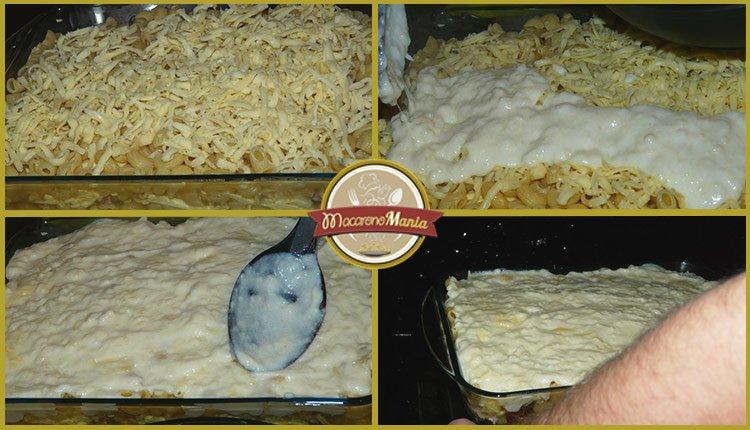 Макароны с сыром в духовке или Мак н чиз с мясом. Пошаговый рецепт. Шаг 6