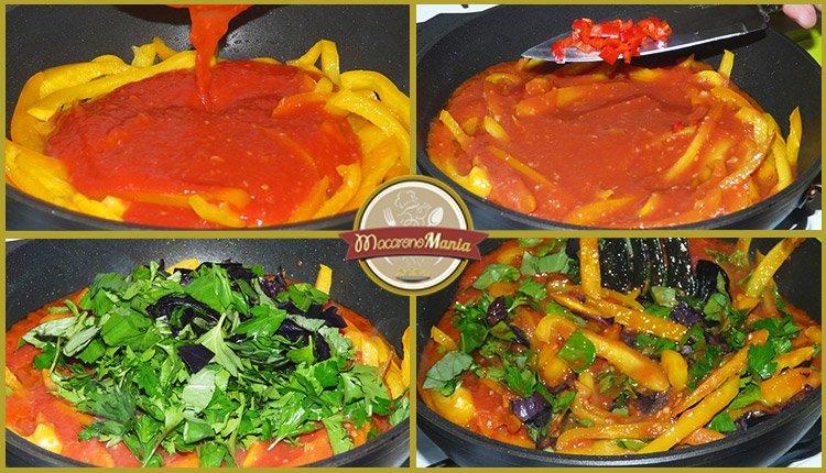 Паста с кабачком (цукини) в томатном соусе от Энрико Карузо. Пошаговый рецепт. Шаг 5