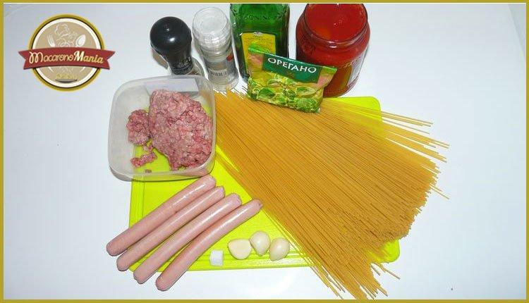 Спагетти с томатным соусом из фильма «Крестный отец». Ингредиенты
