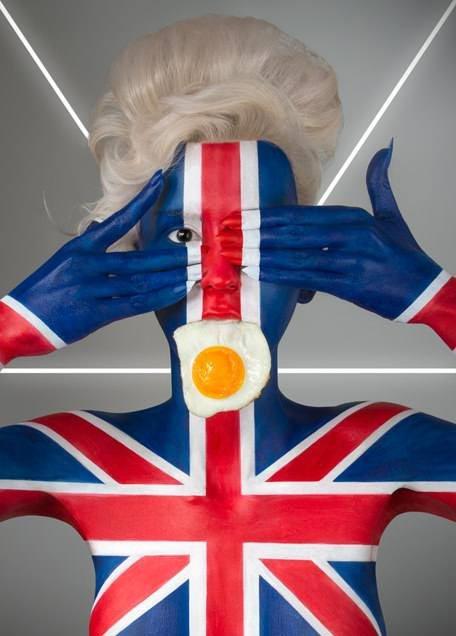 Национальные продукты в боди-арте Джонатана Ишера. Англия