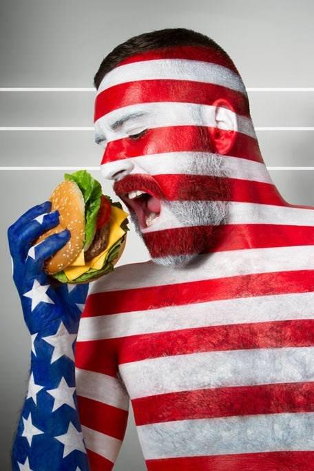 Национальные продукты в боди-арте Джонатана Ишера. Америка