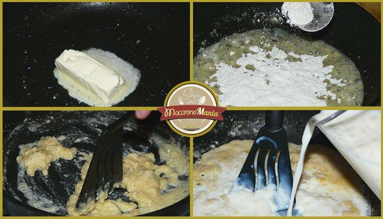 Макароны (паста) с беконом, грушей и соусом бешамель. Шаг-5