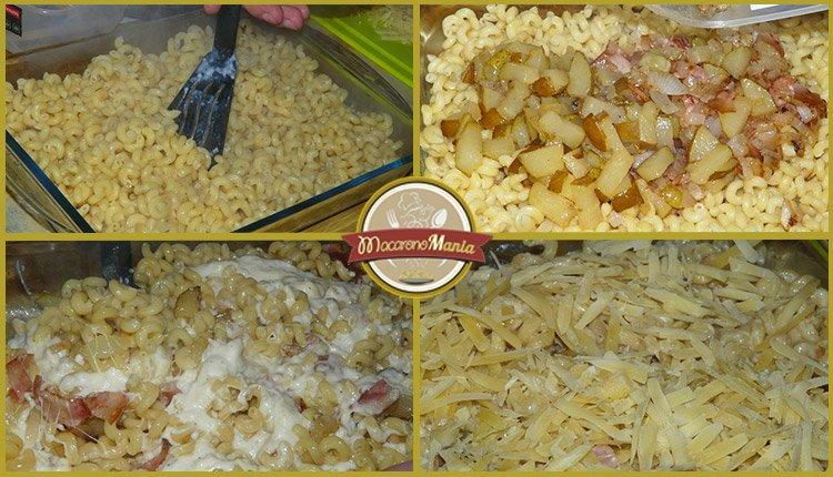 Макароны (паста) с беконом, грушей и соусом бешамель. Шаг-7