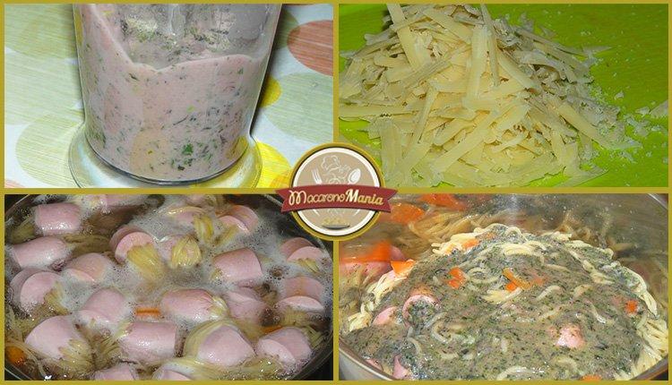 Детские макароны. «Осьминожки» с сыром и базиликовым соусом. Приготовление. Шаг 5