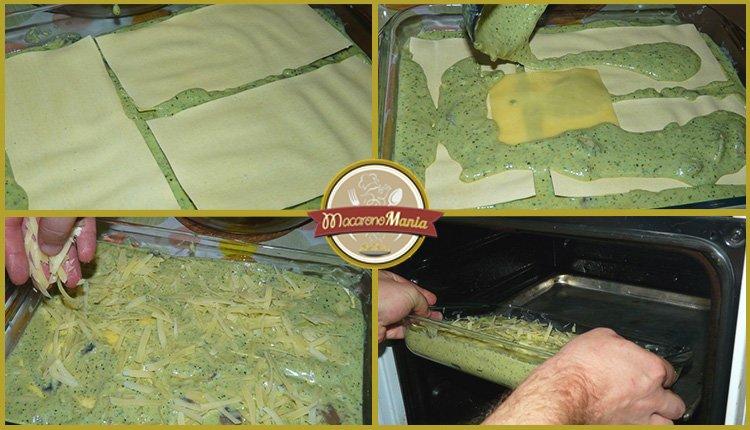 Лазанья с грибами под соусом песто и бешамель. Приготовление. Шаг 9