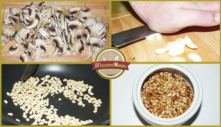 Лазанья с грибами под соусом песто и бешамель. Приготовление. Шаг 1